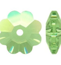 12 PC 8mm Swarovski Marguerite : Peridot