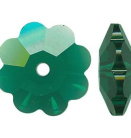 6 PC 10mm Swarovski Marguerite : Emerald