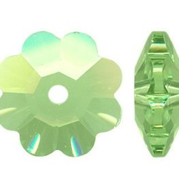 6 PC 10mm Swarovski Marguerite : Peridot