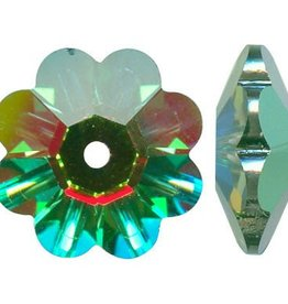 6 PC 10mm Swarovski Marguerite : Medium Vitrail