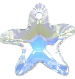 1 PC 17x16mm Swarovski Starfish : Crystal AB
