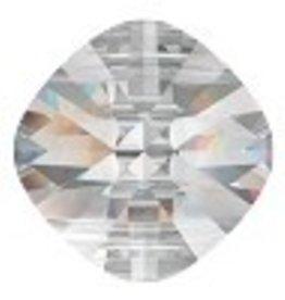 1 PC 14mm Swarovski Double Hole Square : Crystal