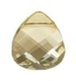 1 PC 15x14mm Swarovski Flat Briolette : Golden Shadow