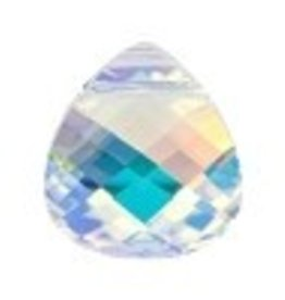 1 PC 15x14mm Swarovski Flat Briolette : Crystal AB