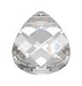 1 PC 15x14mm Swarovski Flat Briolette : Crystal