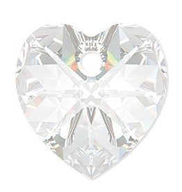 2 PC 10mm Swarovski Heart Pendant : Crystal