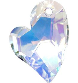 1 PC 27mm Swarovski Devoted Heart Pendant : Crystal AB