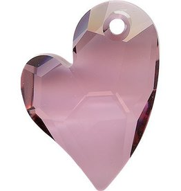 1 PC 36mm Swarovski Devoted Heart Pendant : Antique Pink