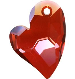 1 PC 36mm Swarovski Devoted Heart Pendant : Red Magma