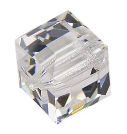 4 PC 4mm Swarovski Cube : Crystal