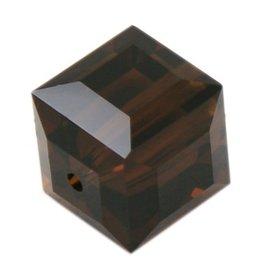 4 PC 4mm Swarovski Cube : Mocha