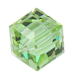 4 PC 4mm Swarovski Cube : Chrysolite