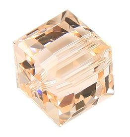 4 PC 6mm Swarovski Cube : Silk