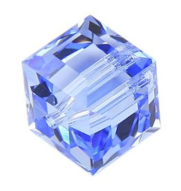 4 PC 8mm Swarovski Cube : Light Sapphire
