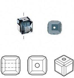 4 PC 8mm Swarovski Cube : Montana Blue