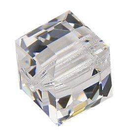 4 PC 8mm Swarovski Cube : Crystal