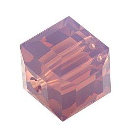 4 PC 8mm Swarovski Cube : Cyclamen Opal