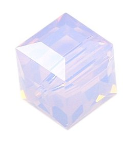 4 PC 8mm Swarovski Cube : Violet Opal