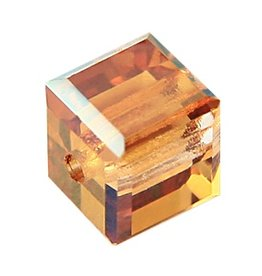 4 PC 8mm Swarovski Cube : Crystal Copper