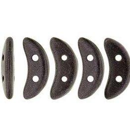10 GM 3x10mm Crescent : Metallic Suede Dark Plum
