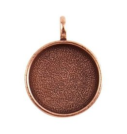 1 PC ACP 24.5x32mm Circle Pendant ID 13/16""