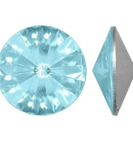 2 PC 14mm Swarovski Rivoli : Light Turquoise Foil Back