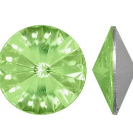 2 PC 14mm Swarovski Rivoli : Chrysolite Foil Back