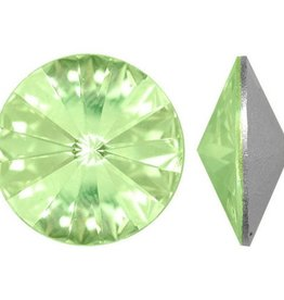 2 PC 14mm Swarovski Rivoli : Peridot Foil Back