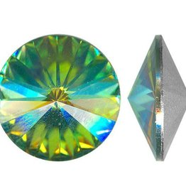 2 PC 14mm Swarovski Rivoli : Vitrail Medium Foil Back