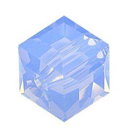 4 PC 6mm Swarovski Cube : Air Blue Opal