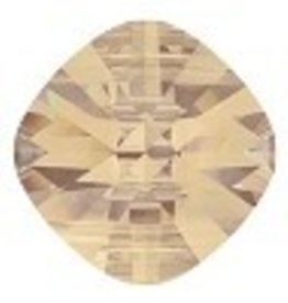 1 PC 14mm Swarovski Double Hole Square : Crystal Golden Shadow