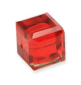4 PC 4mm Swarovski Cube : Light Siam