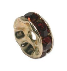 4 PC GP 6mm Rhinestone Rondell : Ruby