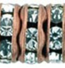 4 PC ACP 6mm Rhinestone Rondell : Crystal