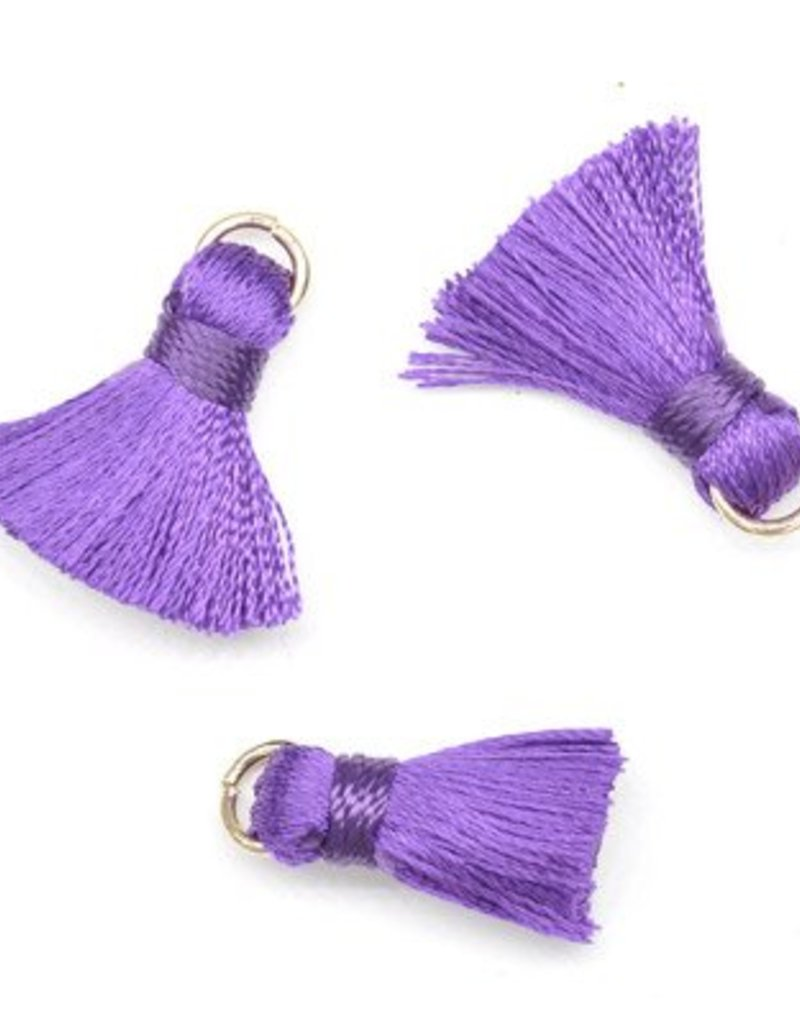 10 PC 20mm Purple Tassel