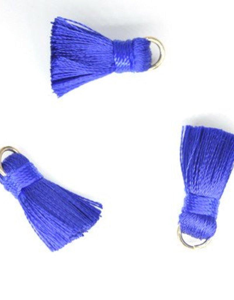 10 PC 20mm Blue Tassel