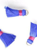 10 PC 20mm Blue/Red Tassel
