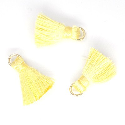 10 PC 20mm Yellow Tassel