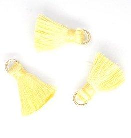 10 PC 20mm Yellow Tassel