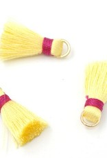 10 PC 20mm Yellow/Red Tassel