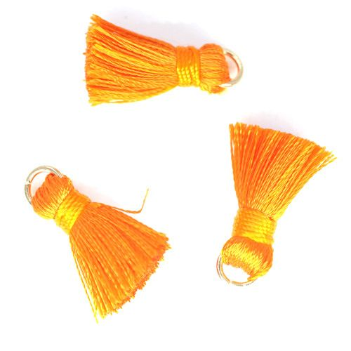 10 PC 20mm Orange Tassel