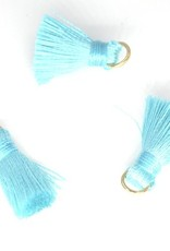 10 PC 20mm Teal Tassel