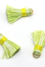 10 PC 20mm Green/Yellow Tassel