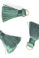 10 PC 20mm Green Tassel