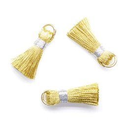 10 PC 20mm Gold/Silver Tassel