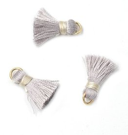 10 PC 20mm Grey Tassel
