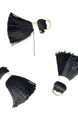 10 PC 20mm Black/White Tassel