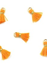 10 PC 10mm Orange/Gold Tassel