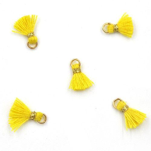 10 PC 10mm Yellow/Gold Tassel