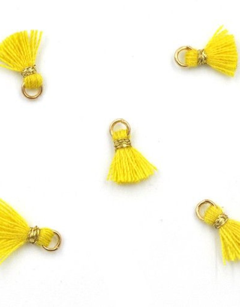 10 PC 10mm Yellow/Gold Tassel